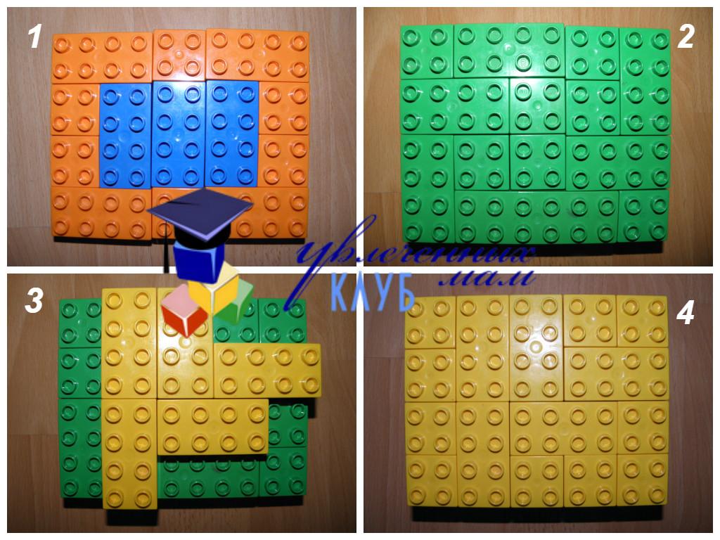 Цветы к празднику 8 марта из LEGO DUPLO - Делаем торт