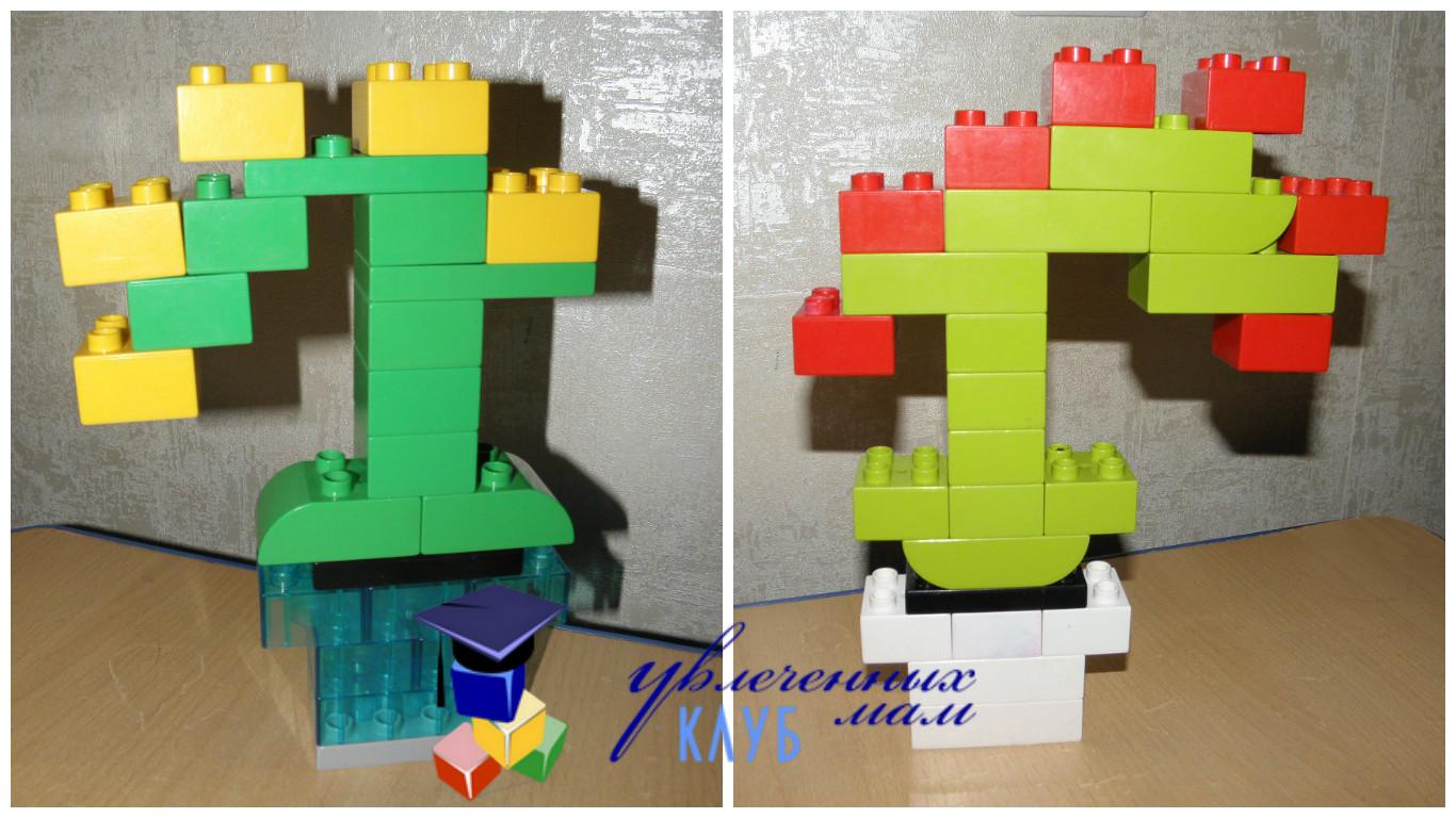 Цветы к празднику 8 марта из LEGO DUPLO - Орхидея