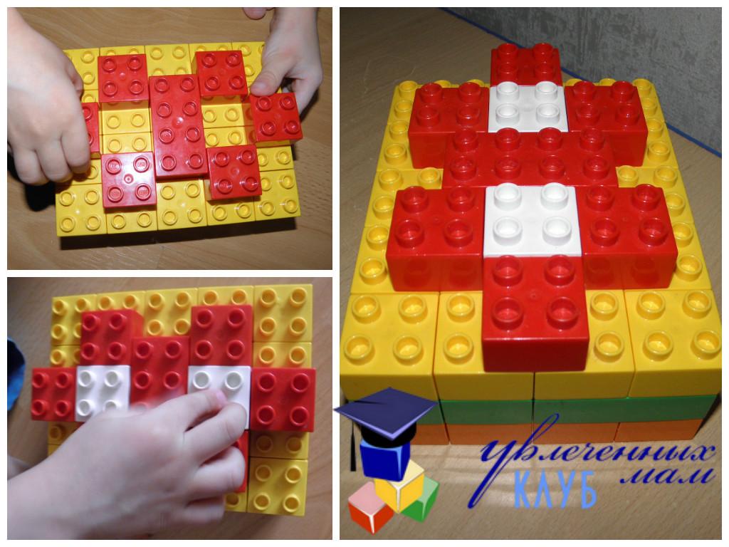 Цветы к празднику 8 марта из LEGO DUPLO - Украшаем торт
