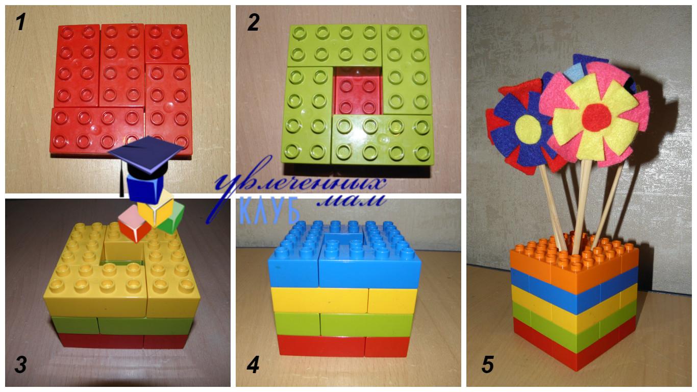 Ваза для цветов к празднику 8 марта из LEGO DUPLO