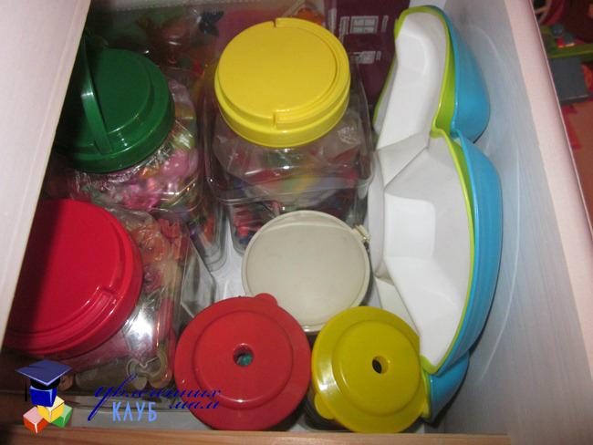 Ящик с материалами для сортировки