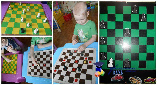 Лабиринт с шахматами