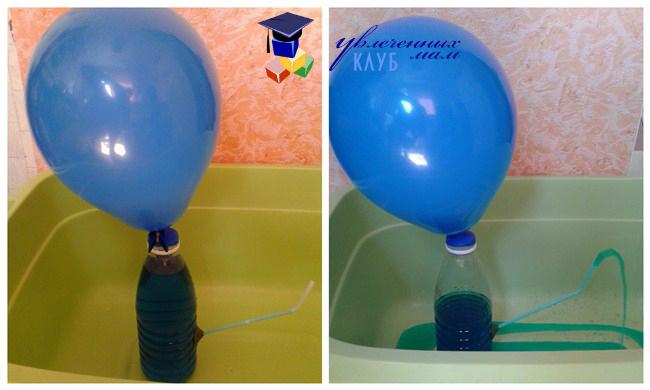 Опыт с воздушным шариком