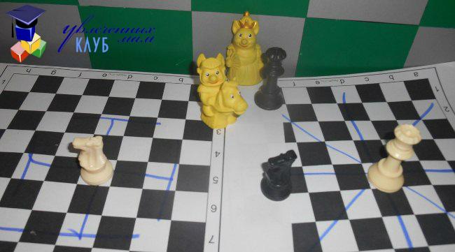 Шахматы для детей. Ферзь и Конь