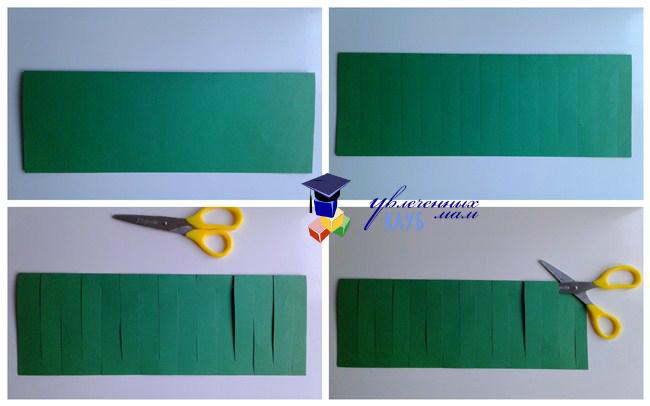 Схема разрезания листа бумаги