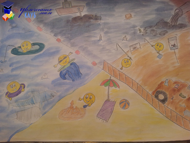 """Плакат """"Мы за чистое море!"""""""