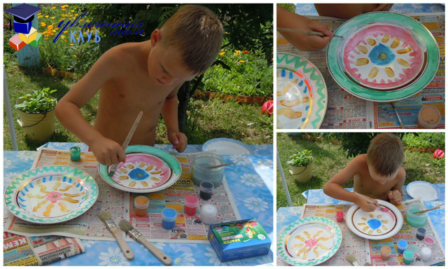 Рисунки на тарелках