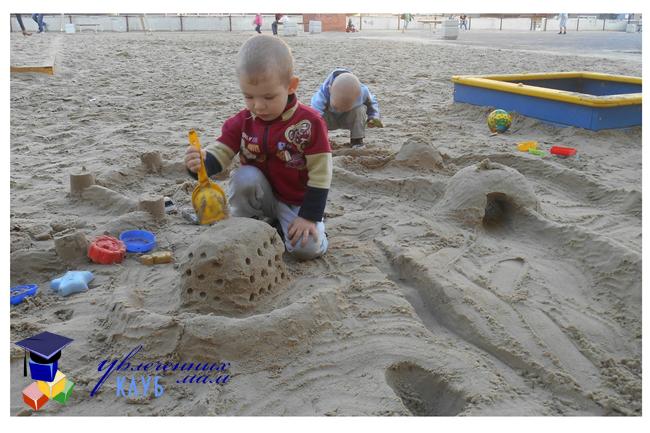Азбука в песочнице - играем с буквами