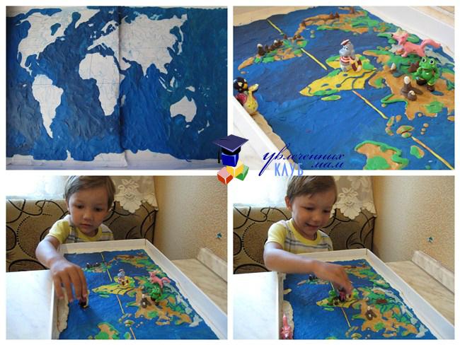 Пластилиновая географическая карта