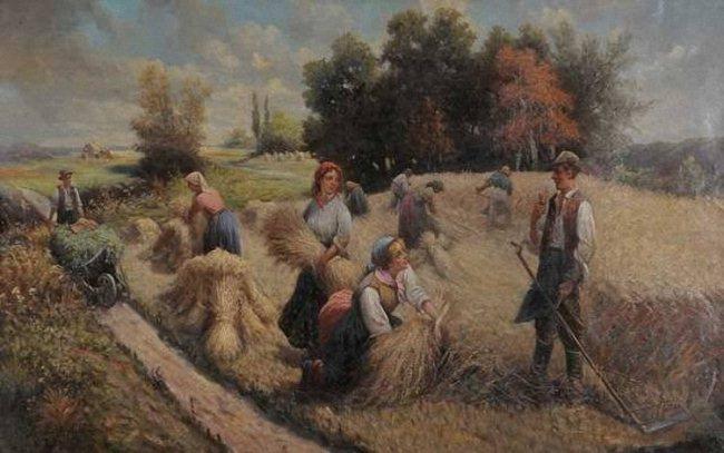 "Картина К. Баумгартнер-Стойлова ""Сенокос"""