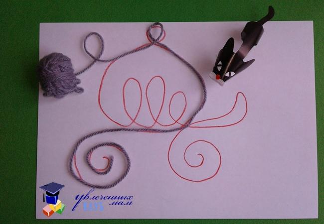 Рисуем карету веревочкой