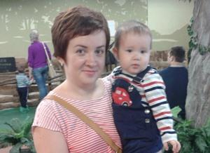 Ольга Гейдо и сын Ваня
