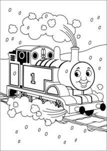 Раскраска Томас