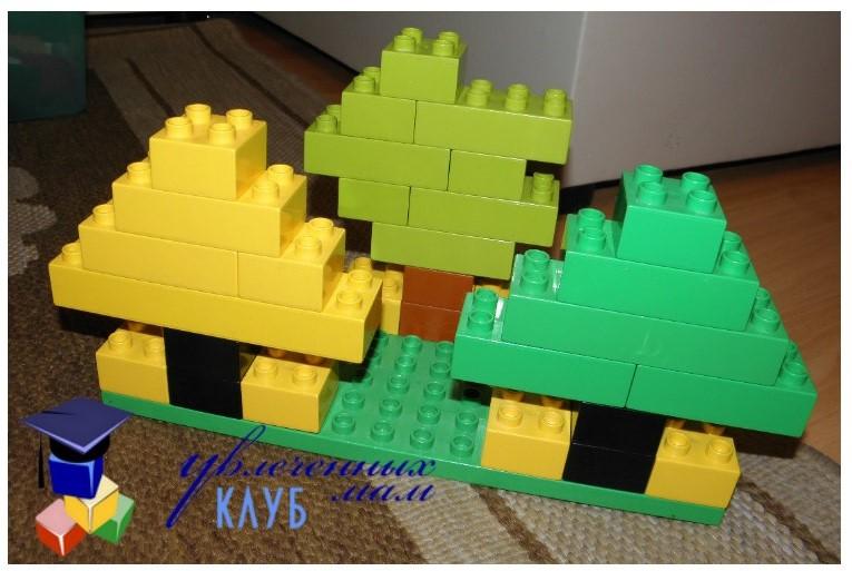 Провожаем осень с Lego Duplo - Хвойные деревья