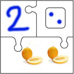 Математический пазл Дыня