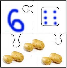 Математические пазлы Картофель