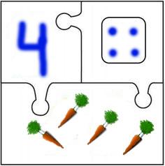 Математический пазл Морковь