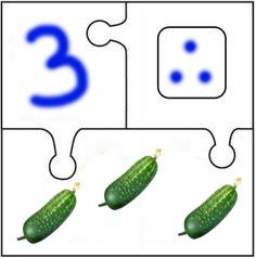 Математический пазл Огурцы