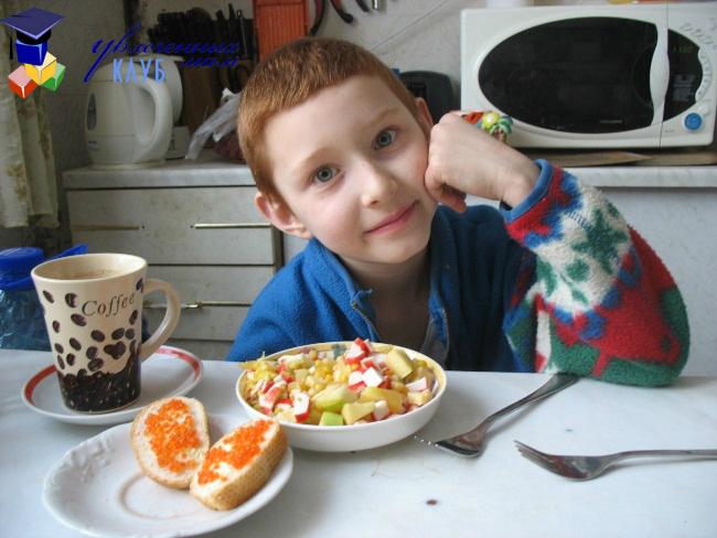 Салат детского приготовления
