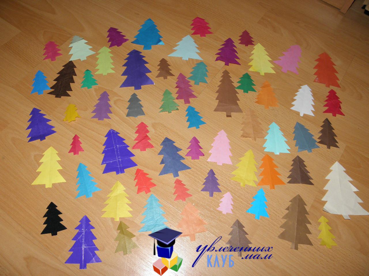 Еловый лес из бумаги