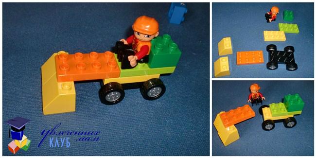 Мини трактор с сеялкой